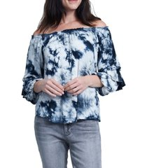 seven7 off the shoulder tie dye top
