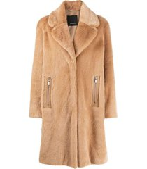fake fur evaristo coat