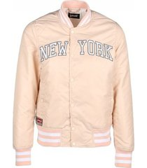 windjack schott blouson jkt stadium brode new york blush rose clair
