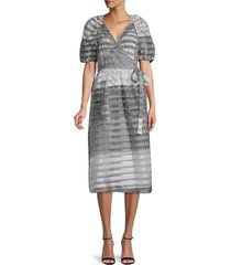 baum und pferdgarten women's adalaine polka dot dress - grey - size 38 (8)