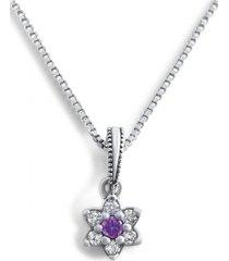 collar flor pequeña casual plata arany joyas