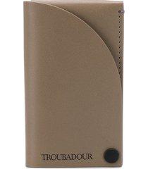 troubadour business card holder - grey