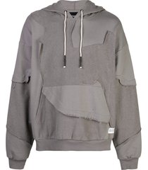 mostly heard rarely seen cut me up drop shoulder hoodie - grey