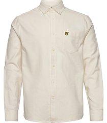 brushed twill shirt skjorta casual creme lyle & scott
