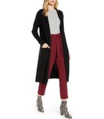 women's halogen wool & cashmere long cardigan, size xx-large - black