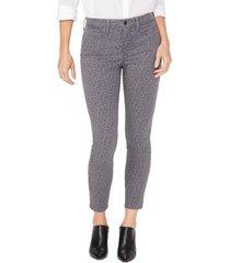 women's nydj ami ankle skinny jeans, size 6 - grey