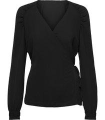 elexasz blouse blouse lange mouwen zwart saint tropez