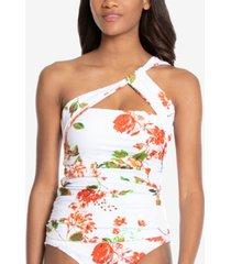 rachel rachel roy one-shoulder floral-print tankini top women's swimsuit