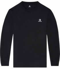 converse camiseta foundational long sleeve black