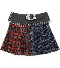 chopova lowena mini split argyle skirt with belt