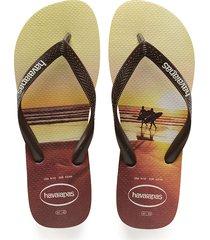 sandalias chanclas havaianas para hombre marrón hype