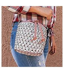 recycled pop-top bucket bag, 'glimmering companion' (mexico)