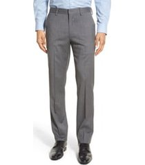 men's bonobos jetsetter slim fit flat front stretch wool dress pants, size 35 x unhemmed - grey
