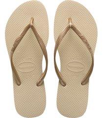 havaianas slim flip flop, size 35 in light golden at nordstrom