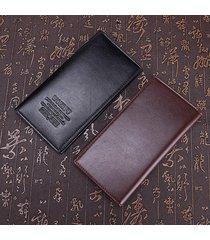 billetera, cartera larga de lychee de la cartera de-marrón