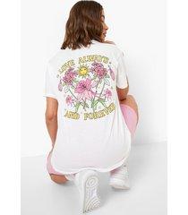 love always t-shirt met rugopdruk, white