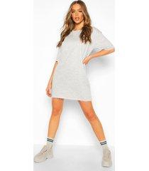 oversized lounge sweat dress, grey marl