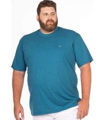 camiseta longford gola careca plus size - azul - masculino - dafiti