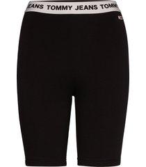 tjw legging short shorts cycling shorts zwart tommy jeans