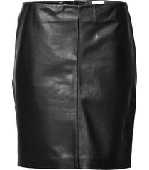 19 the leather skirt kort kjol svart my essential wardrobe
