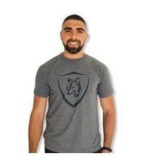 camiseta brasão lobo masculina