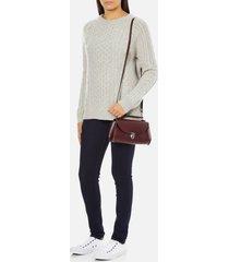 the cambridge satchel company women's mini poppy shoulder bag - oxblood