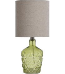 stylecraft textured glass accent lamp with an open bottom design
