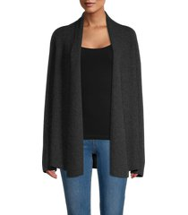 theory women's clairene cashmere cardigan - charcoal - size xl
