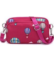 borsa a tracolla per il tempo libero impermeabile con tracolla a tracolla stampata in nylon da donna