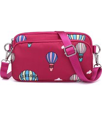 women nylon print shoulder borsa mini telefono impermeabile borsa leisure crossbody borsa