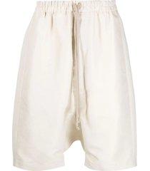 rick owens cream dropped crotch shorts
