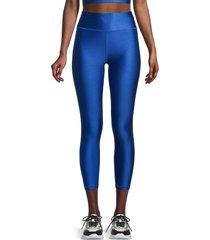 x by gottex women's shine ankle leggings - sapphire - size xs