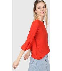 blusa roja etam agra