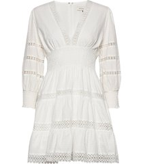 inez dress kort klänning vit by malina