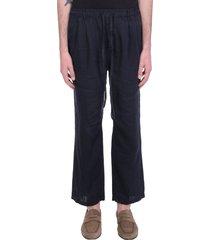 massimo alba keywest pants in blue linen