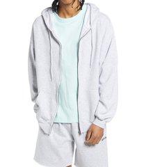 men's bdg urban outfitters men's front zip hoodie, size medium - grey
