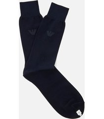 emporio armani men's filoscozia cotton socks - blu navy - l - blue
