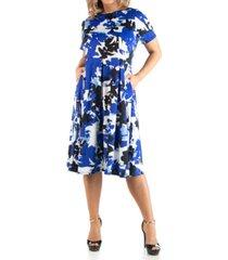 24seven comfort apparel women's plus size abstract print dress