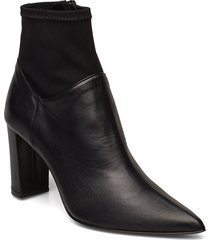 enna black nappa/stretch shoes boots ankle boots ankle boots with heel svart atp atelier