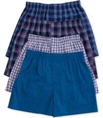 hanes men's 4-pk. platinum stretch woven boxers