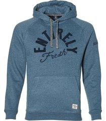 lerros sweater - modern fit - blauw