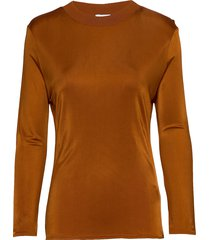 rodebjer arwa t-shirts & tops long-sleeved bruin rodebjer