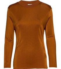 rodebjer arwa t-shirts & tops long-sleeved bruin rodebjer