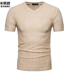 camiseta de manga corta para tops hombre hombre primavera y verano agujeros