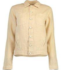 sand celine linen jacket