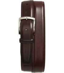 men's magnanni calfskin leather belt, size 36 - burgundy