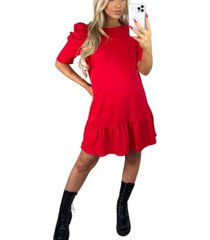 ax paris ruffle sleeve shift dress