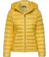 essential lt down jacket gevoerd jack geel calvin klein