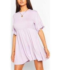 frill sleeve smock dress, lilac