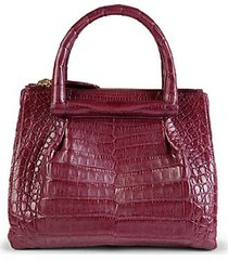 crocodile leather tote